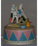 "Rocking Horse music box, Enesco 1980, plays ""Rock-a-bye Baby"" - $4.09"