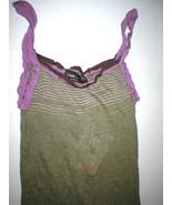 New Womens NWT Designer Fabrizio Del Carlo M Sun Dress Lounge Purple Gre... - $430.00