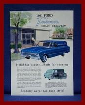 1961 Ford FALCON Sedan Delivery Color Sales Brochure - EXCELLENT Original! - $9.50