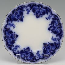 """Johnson Brothers Antique Flow Blue Georgia 8"""" Luncheon Plate a set of 3 image 4"""