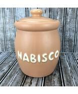 Vintage McCoy Pottery Nabisco Biscuit Advertising Cookie Jar Crock 1978 - $69.29