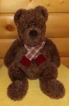 "GUND Heads & Tales Plush 22"" Fuzzy Chocolate Brown Bear Gentleman with S... - $8.99"