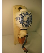 DeVe Coffee Grinder by Devecht - Delft Blue White Windmill - Antique Hol... - $34.43