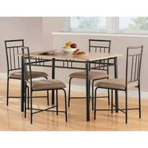 Dining Table Set 5 Piece Formal Room Wood Chairs Table Modern Furniture ... - $171.89