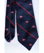 """Odin Polyester Mens Necktie Stripe Made in England 58"""" long 3"""" wide Blue... - $14.84"""