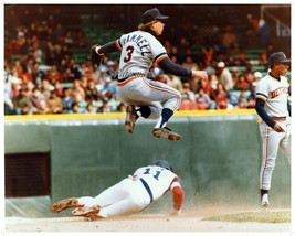 MLB Detroit Tigers Alan Trammell Turning 2 Game Action Color 8 x 10 Phot... - $5.93