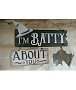 """""""I'm Batty About You"""" Wood and Metal Halloween Sign - $9.70"""