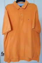 Tommy Hilfiger Polo Shirt Men's Solid Short Sleeve Orange TG XL - $13.60