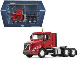 Volvo VNR 300 Day Cab Cherry Bomb Red Metallic 1/50 Diecast Model Car by First  - $88.15