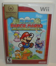 Wii SUPER PAPER MARIO - CiB 2007 Nintendo Selects Video Game Complete - $11.64