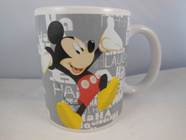 Disney Mickey Mouse Coffee Tea cup Mug Laugh Giggle Ha Ha Excellent - $9.89