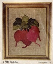 Vintage Bernat Mini Mini Stitchery Crewel Kit Radishes Embroidery Craft - $21.55
