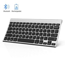 Rechargeable Bluetooth Keyboard, Jelly Comb Ultra Slim Compact Wireless ... - $19.62