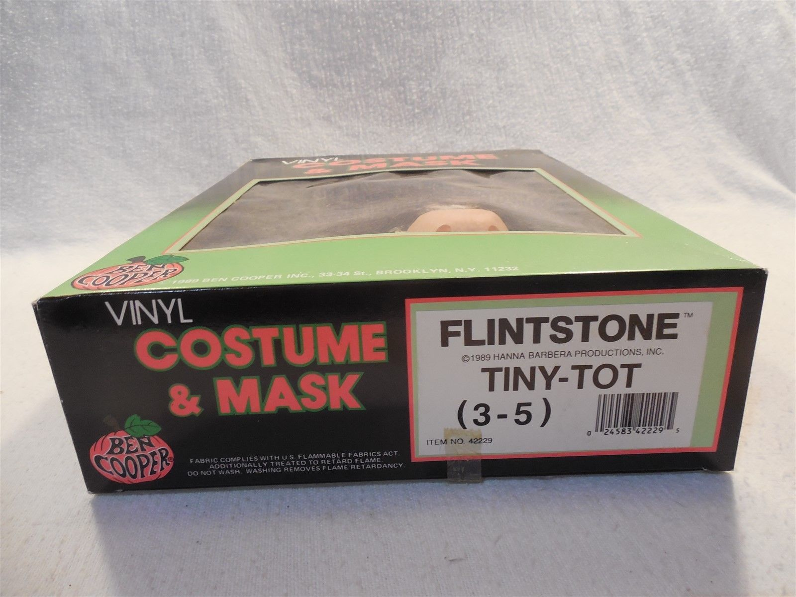 Flintstones 1989 Ben Cooper Fred Flintstone Halloween Costume No 42229 Tiny-Tot
