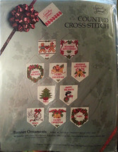 Banner Christmas Ornaments Counted Cross Stitch Kit Tree Gift Candamar c278 - $12.99