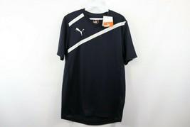 New Puma Mens Small Esito 3 Short Sleeve Training Futbol Soccer Jersey Navy Blue - $29.65