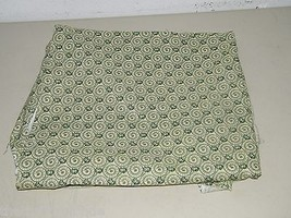 Retro Green Swirl Leaves Leaf Quilting Cotton Fabric 1 3/4 Yards 17391 - $13.27