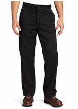 NEW Dickies Mens Original 874 Work Pant Black 32 x 39 Unhemmed UU Wrinkle Resist - $20.65