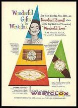 Rosalind Russell Modern Westclox Clocks 1958 Photo Ad Mid Century - $14.99