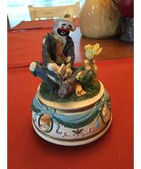 """Hobo Clown"" Figurine Music Box-plays ""Those Were The Days"" - $28.99"