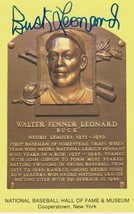 Buck Leonard (d. 1997) Autographed Hall of Fame Plaque Postcard - $39.99