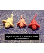 Handmade To Order - Play Mice For Cats - Set of 3 - $27.66