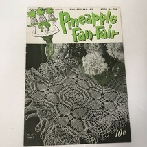 Pineapple Fan Fair Vtg 1950 Coats & Clark Doily Pattern Book - $19.79