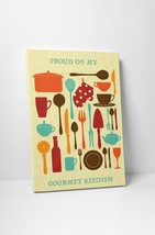 """Proud of My Gourmet Kitchen Wall Art Gallery Wrapped Canvas. 30""""x20 or 20""""x16"""" - $44.50+"""