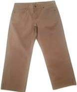 "NWT CJ by Cookie Johnson ""Mercy"" Women's Size 12 Tan Cropped Leg Jeans - $29.65"