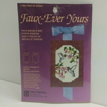 """Faux-Ever Yours """"Pair Of Birds"""" Needlepoint Kit #7805 Humming Birds (2B1) - $4.99"""