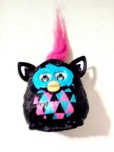 Hasbro Furby Miniature Toy Hot Pink Hair Black Aqua Pink 3 D Eyes 2013  - $6.93