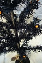 Bethany Lowe Black Halloween Feather Tree 26 inch in Urn image 3