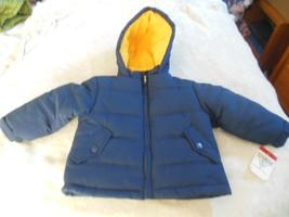Oshkosh Boys  Blue Fleece Lined Hooded Coat  Size 2T - $44.55