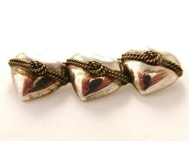 Mexican Taxco Sterling Silver Hearts Knots Brooch - $42.56