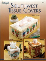 Southwest Tissue Covers in Plastic Canvas Mayan Gold, Phoenix, Desert Ga... - $6.95