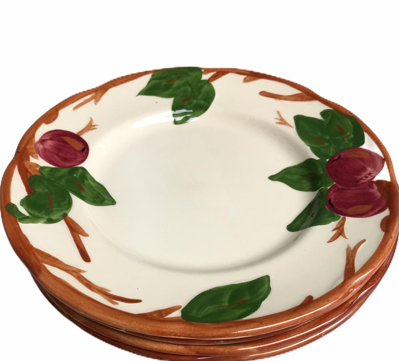 "Set of 4 Vintage Franciscan Apple Lunch Salad Plates Made In England 7-3/4"" - $32.68"