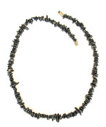"15"" HEMATITE STONE LIKE BEADS NECKLACE - $19.99"