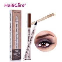 Hailicare® Eyebrow Makeup Brushes Waterproof Lock Color Shaper Eyebrow N... - $6.89