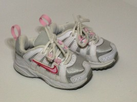 Nike Advantage Pink White Shoes Sneakers Toddler Girl's Size 4C Baby FRE... - $17.81