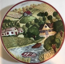 "Rare Gibson Housewares Unique Set of 4 Salad/Dessert Plates 8"" D - $49.49"