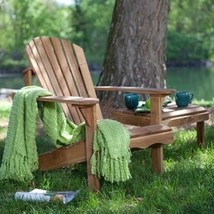 Solid Oak Wood Adirondack Chair with Linseed Oil Finish - $193.93
