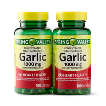 Spring Valley Odorless Garlic, 1000 mg, Twin Pack (100 softgels each bottle)  - $18.88