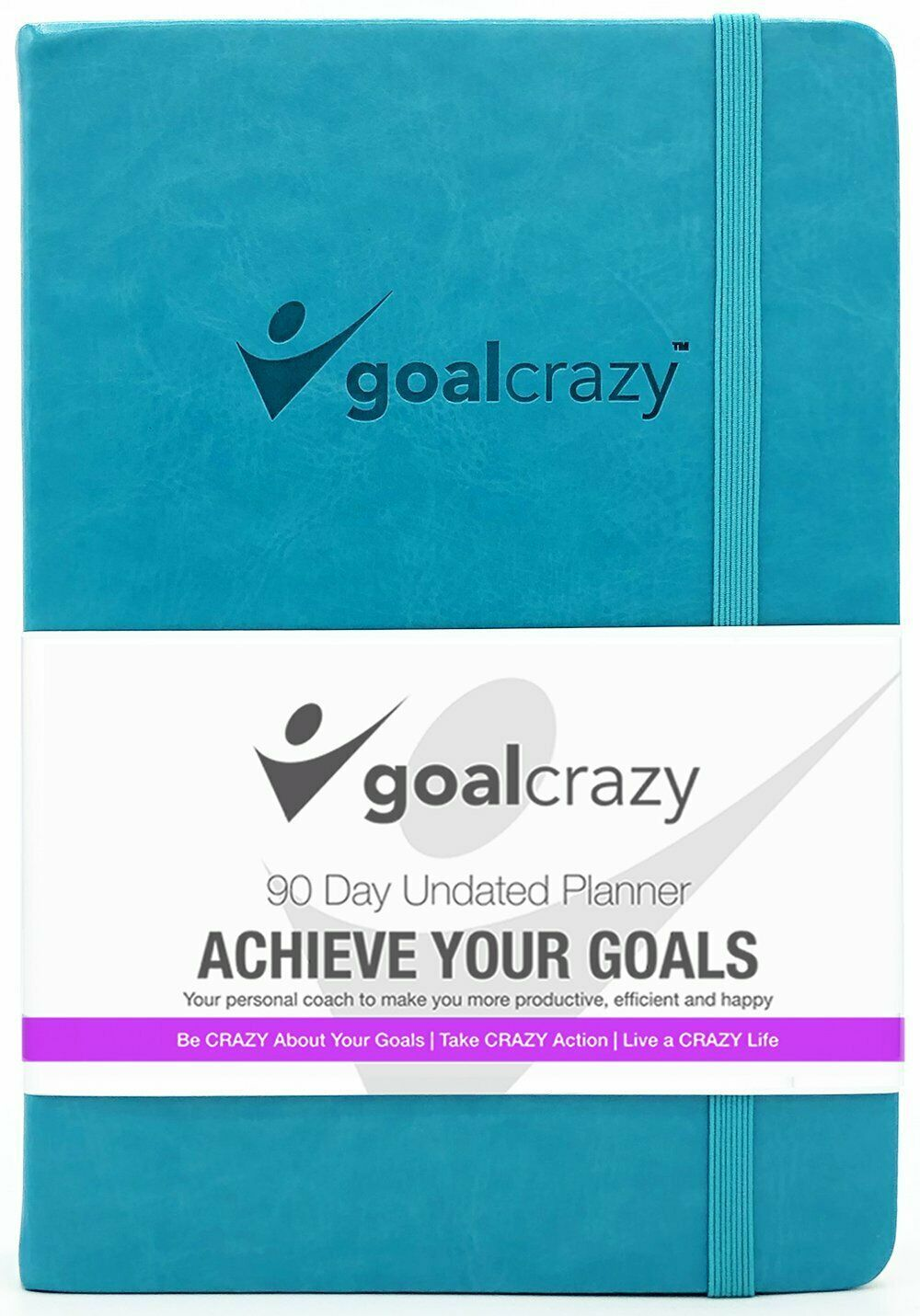 Goal Crazy 2019 Planner - 90 Day Productivity Journal, Black Leather, Undated image 9
