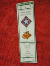 MLB 1995 Texas Rangers Ticket Stub Vs. Baltimore Orioles 4/13/95 - $3.49