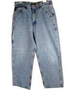 POLO Ralph Lauren Carpenter Denim Blue Jeans 34/29 Mens Free Shipping - $29.95