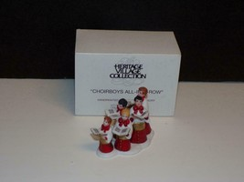 Department 56 CHOIRBOYS ALL IN A ROW Retired MIB -Perfect MINT 58892 - $22.28