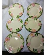 Vintage Franciscan China Desert Rose Set of 6-6.5 inch Cheese/Dessert  P... - $29.70
