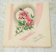 "OLD VINTAGE ""FOR MY VALENTINE"" VALENTINE'S DAY CARD, GOOD COLOR!"