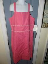 K.C Parker Pink Scalloped Sun Dress Size 16 Girl's NEW HTF - $39.00