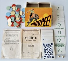 1929 antique Make WHOOPEE CARD GAME milton bradley bronco rodeo - $67.95